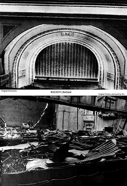 Regent Ballarat – Original Auditorium and Fire Wreckage.