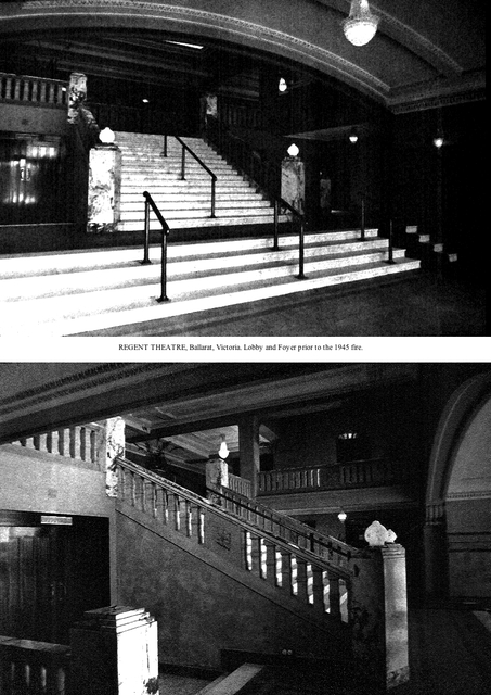 Original Ballarat Regent Entrance Lobby, Stalls Foyer and Grand Marble Staircase.