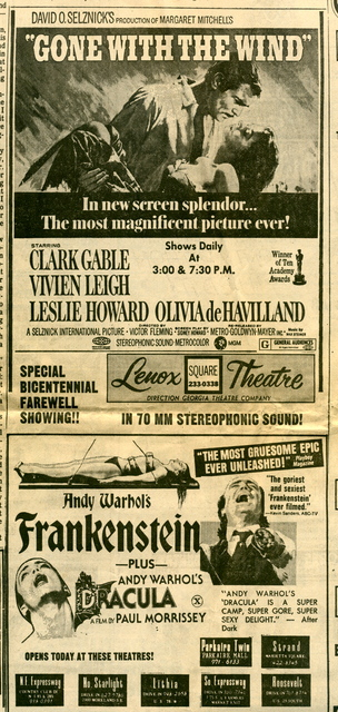 GONE WITH THE WIND in 70mm at LENOX SQUARE THEATRE