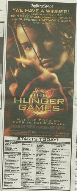 The Hunger Games Philadelphia area Theatrical listings