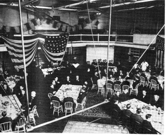 1890 Thankgiving in the Dayton YMCA Gym