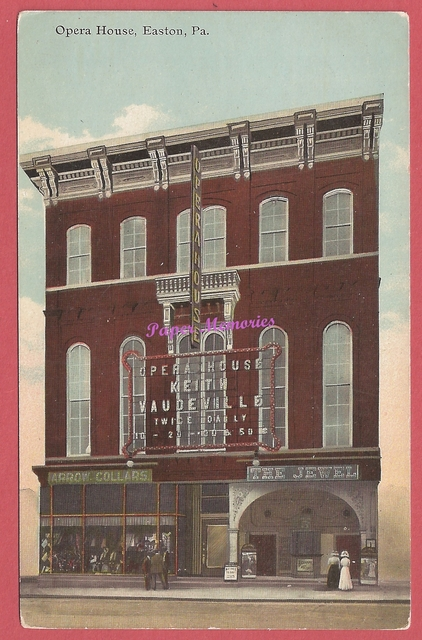 Opera House, Keith Vaudeville, and The Jewel Theatre, ca 1910 post card