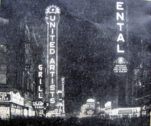 UNITED ARTISTS THeatre, Chicago, Illinois, in the late 1920s.