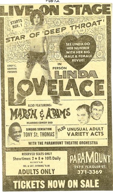 Linda Lovelace live!