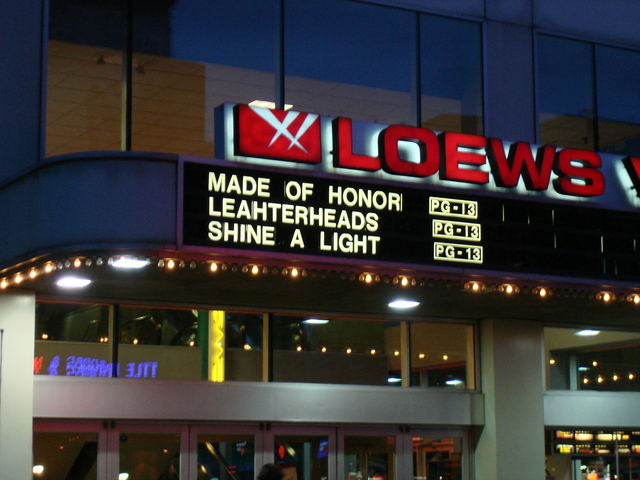 Misspelled marquee, May 2008