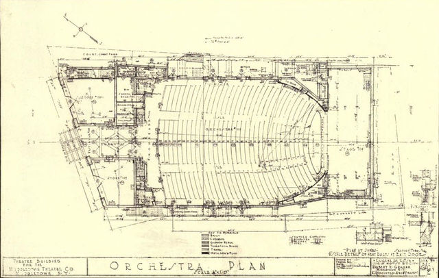 Orchestra Floor Plan, State Theatre, Middletown, NY
