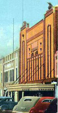PACE Theatre, Chadson, Nebraska (1930s photo, retouched in the 1940s)
