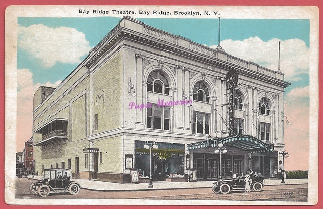 circa 1930 post card view of the Bay Ridge Theatre