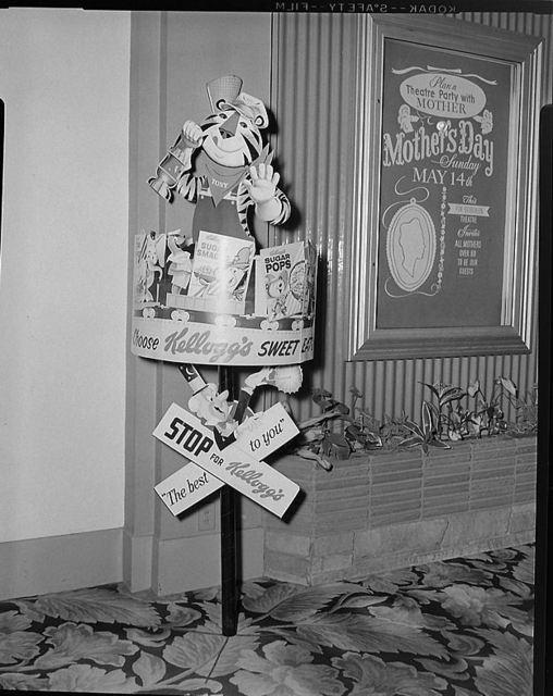 McDONALD Theatre, Eugene, Oregon in 1961 - lobby display