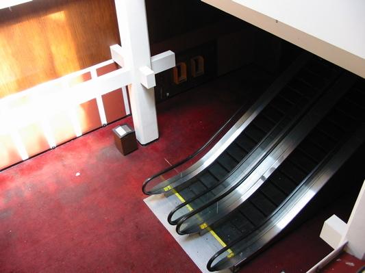Tanforan 4 Cinema escalators