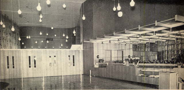 Concession stand in lobby of Preston Royal Theatre