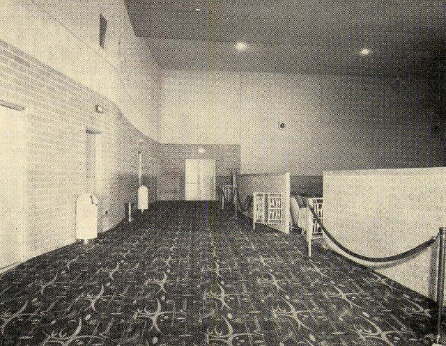 Preston Royal Theatre, back standee area
