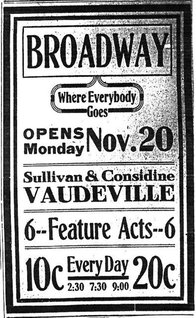"""Opens Monday Nov. 20"""