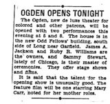"""""""Ogden Opens Tonight"""""""