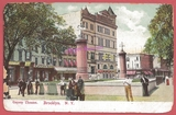 1907 post card view of the Gqyety Theatre, at 18 - 22 Throop Ave., Brooklyn, NY