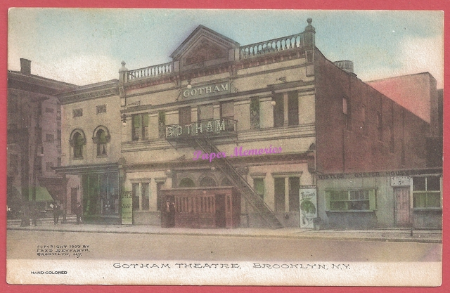 The Gotham Theatre, Fulton St. & Alabama Ave., Brooklyn, NY, 1907 post card view