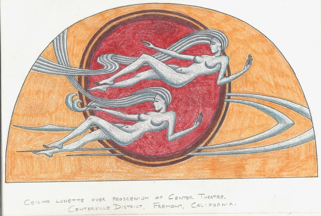 Center Ceiling Maidens