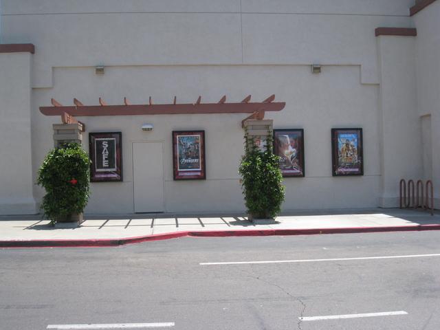 Poster display, left side of the UltraStar Poway 10 Cinemas