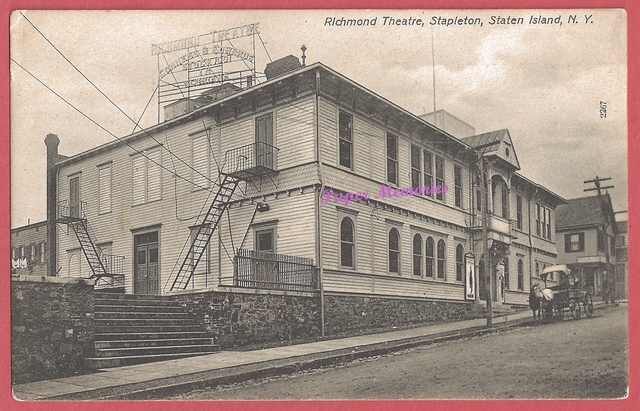 1906 post card view of theRichmond Theatre, in Stapleton, Staten Island, NY