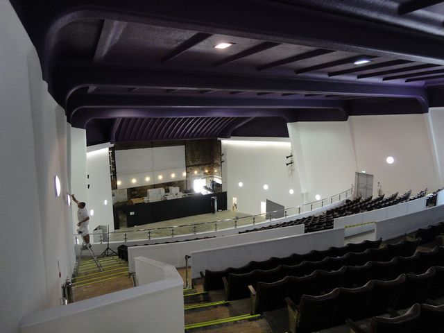 Putting the finishing touches to the Auditorium May 2012