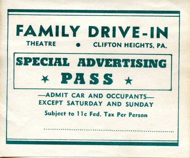 Family Drive-In Theater Pass
