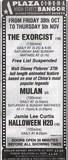 Plaza Cinema Advert