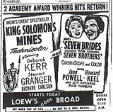 """King Solomon's Mines""/""Seven Brides for Seven Brothers"""