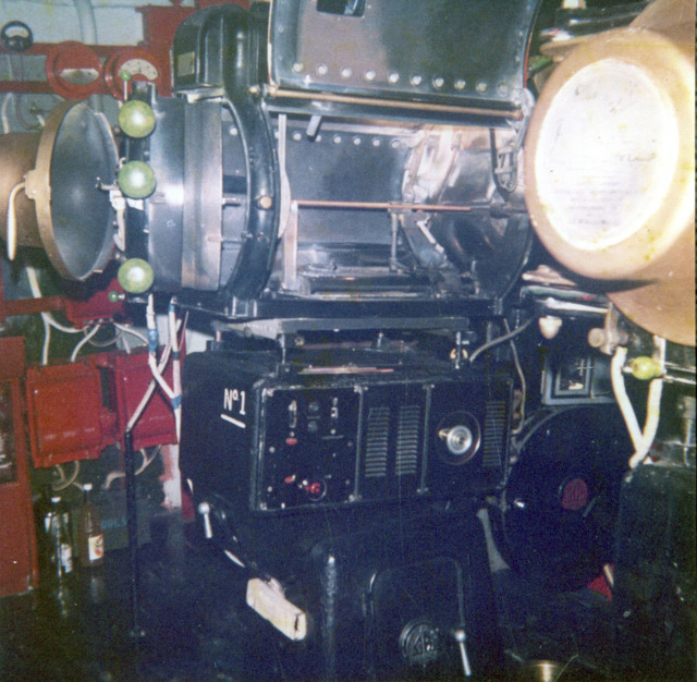in projection room