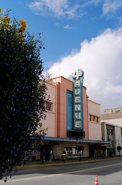 a blue sky view of the 4th Avenue Theatre