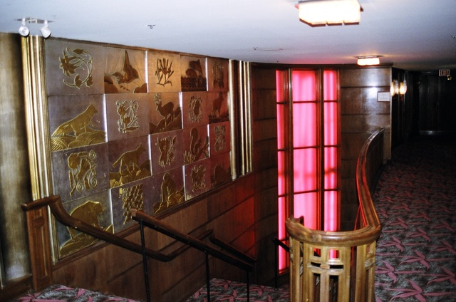 mural, interior of the 4th Avenue Theatre; Alaskan heritage