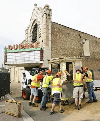 Du PAGE Theatre demolition, Lombard, Illinois.