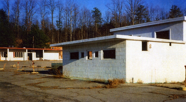 N.E. Expressway Drive-In Theatre (the remains of the projection booth)
