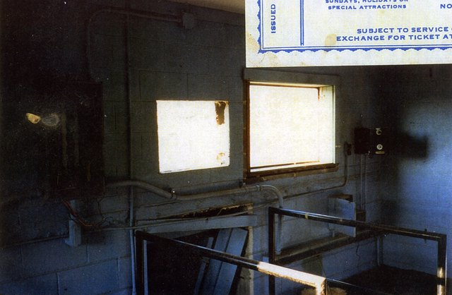 N.E. Expressway Drive-In Theatre (remains of inside of the projection booth)