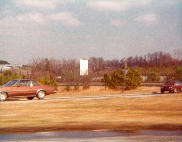 N.E. Expressway Drive-In Theatre (screen seen in the distance)