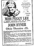 """Miss Peggy Lee"""