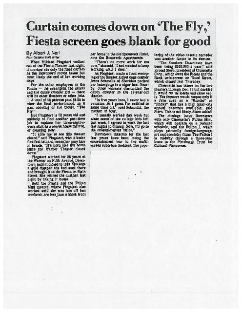 Fiesta Theatre Closing Article