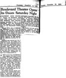&quot;Boulevard Theater Opens...&quot;
