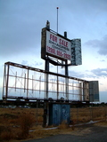 Remnant of 99 East Drive-In Theatre Marquee 2007