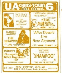 1975 UA Christown Mall - Directory Ad