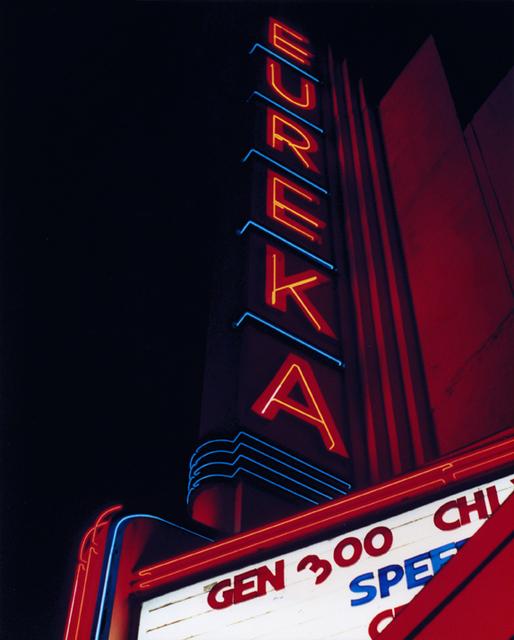 Eureka Theater neon sign, 1996