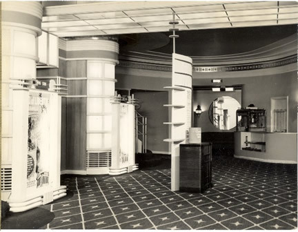 Inside lobby, 1939