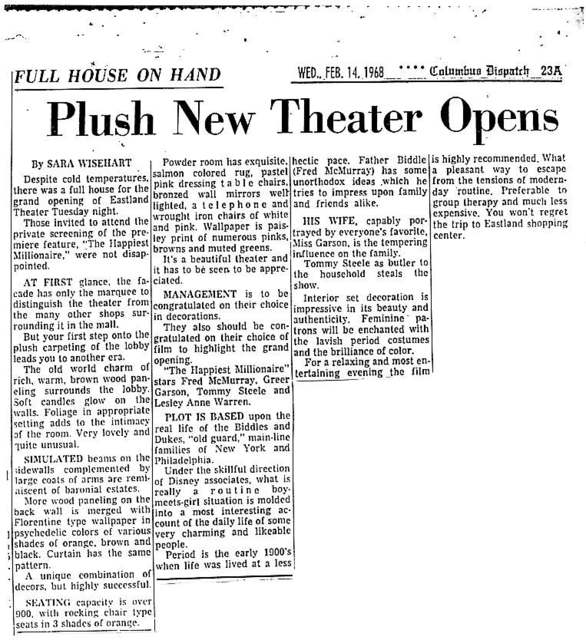 """Plush New Theater Opens"""
