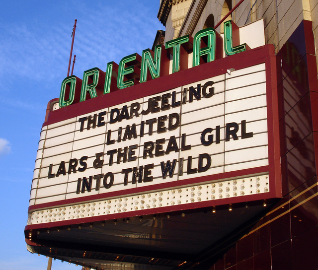 Oriental Theatre, Milwaukee, WI - marquee