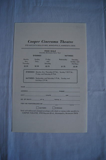GWTW 70mm Reserved Seat Pricing