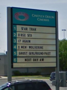 Yes, they are still using the Cineplex Odeon sign.