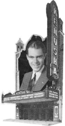KENOSHA Theatre organist Ted Stanford in composite publicity photo.