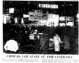 """Crowds Jam State St, for Cinerama"""