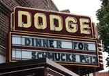 Dodge Theatre, Dodgeville, WI - sign