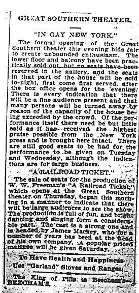 &quot;Great Southern Theater&quot;