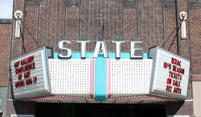 State Theatre, Eau Claire, WI - marquee